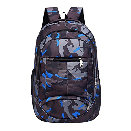 Mysky Fashion Teenage Girls Boys Students School Bags Camouflage Printing Backpack Travel Backpack (Black) (Messenger Bags For Teenage Girls For School)