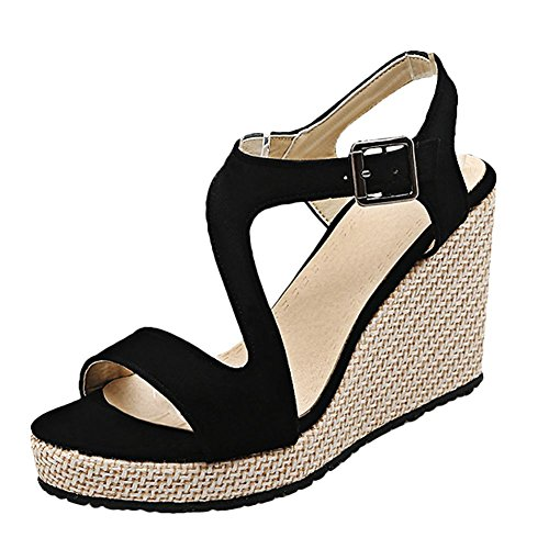 Sandalo Donna Nero MissSaSa Donna Elegante Elegante MissSaSa Sandalo gzfO8WWa