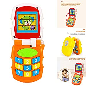 Mobile Phone Learning Study Musical Sound Telephone Toys Early Education Play Learning Cellphone for Kids Baby Children