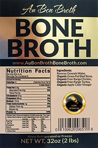 Pure Bone Broth 2 Pack Sampler – Organic, Grassfed, NO Sodium, NO Vegetables (Delicious Beef/Chicken/Turkey Blend) Frozen 32oz Bags, 2 Count (1 cup per day), Soup Broth Not Powder, Non-GMO