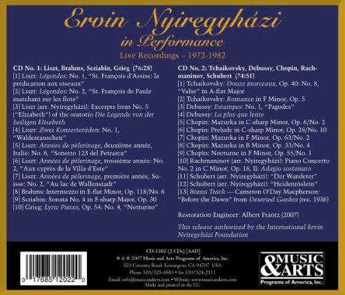 Ervin Nyiregyhazi in Performance, Live Recordings