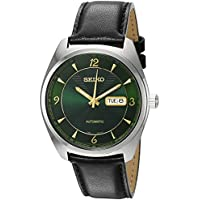 Seiko Mens Recraft Series Japanese Automatic Leather Watch