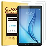 [2 PACK] Galaxy Tab E 9.6 Screen Protector, SPARIN Ultra Clear High Definition Tempered Glass Screen Protector for Samsung Galaxy Tab E 9.6 Inch