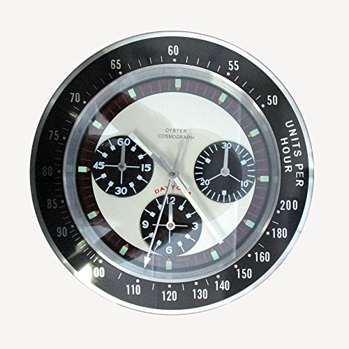 Amazon Com Rolex Style Daytona Silent Sweep Wall Clock