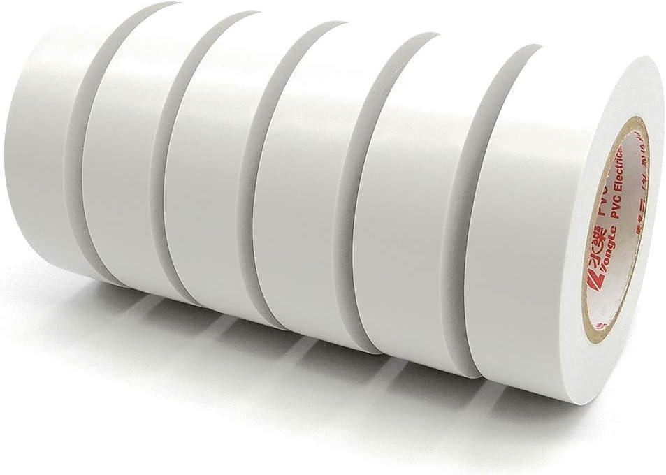 Maveek Lot de 6 rubans disolation /électrique en PVC 20 m x 19 mm