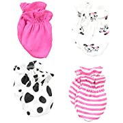 Gerber Baby Girls' 4 Pack Mittens