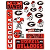 Georgia Bulldogs Small Team Sticker Sheet