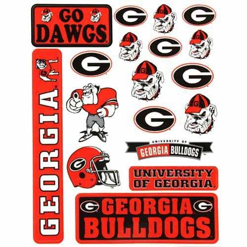Georgia Bulldogs Small Team Sticker Sheet