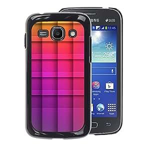 A-type Arte & diseño plástico duro Fundas Cover Cubre Hard Case Cover para Samsung Galaxy Ace 3 (Polygon Purple Yellow Checkered Pattern)