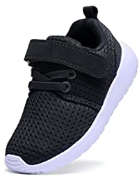 Boy's Girl's Lightweight Breathable Sneakers Strap Athletic Running Shoes