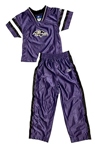 Baltimore Ravens Licensed TODDLER Jersey Style Track Suit Shirt And Pants Outfit (2T) ()
