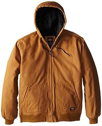 Dickies Men's Big-Tall Sanded Duck Hooded Jacket, Brown Duck, 2T