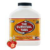 Emergency Survival Food supply camping hiking RV outdoor Ready to Eat Meals (180 Tablets) 25 Years Shelf Life - Strawberry Flavor