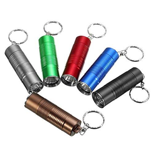 LED 16340/CR123A Flashlights - XM-L T6 800LM 3modes Pocketable Mini Keychain LED Flashlight - (Color: Bronze)