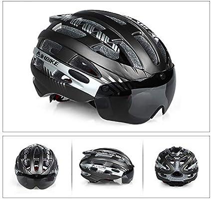 TBAN Casco Bicicleta con Visera, Protección De Seguridad Ajustable ...