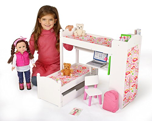 Eimmie 18 Inch Doll Bunk Beds W Trundle And Accessories Shop Hot Selling Items