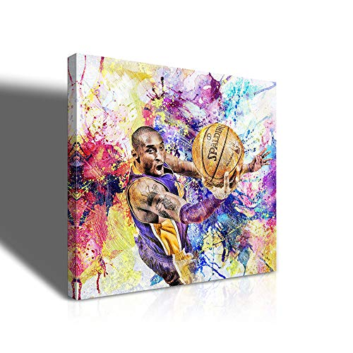 Kobe Bryant Wall Art Poster Famous Basketball Player Star Portrait Painting Print On Canvas Kobe Bryant Gifts For Men Sports Wall Art Office Bedroom Decor