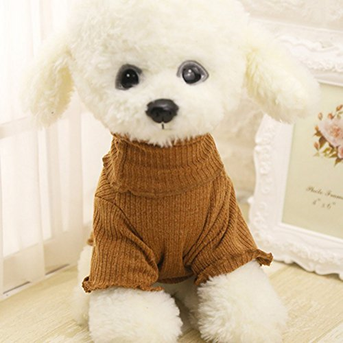 PanDaDa Pet Cold Weather Sweater Warm Keeping Turtleneck Sweater Windproof Winter Clothes Review