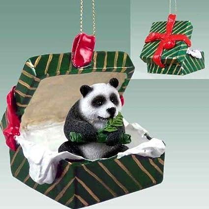 Amazon.com: Panda Bear Gift Box Christmas Ornament - DELIGHTFUL ...