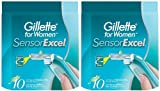 Gillette SensorExcel Refill Cartridges for Women-10 ct, 2 pk