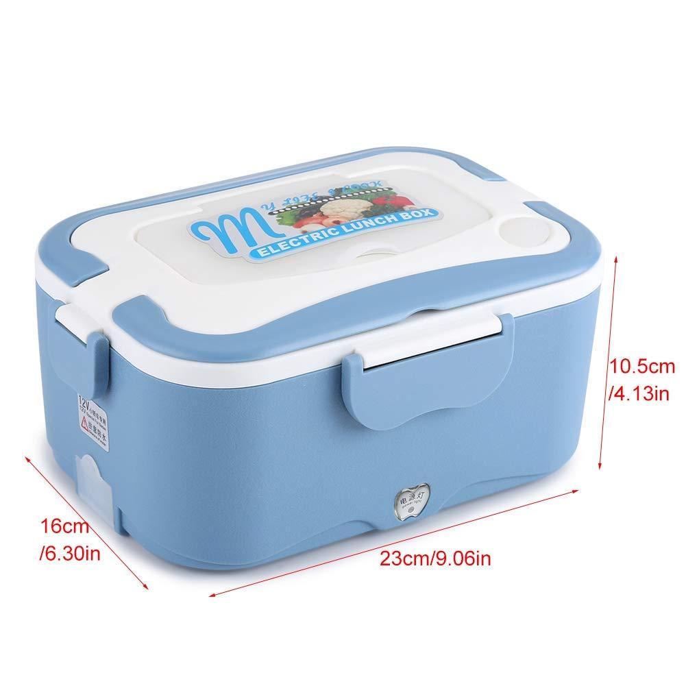 24V Car Electric Lunch Lunch Box riscaldamento Lunch Box riscaldato Lunch Box Riscaldatore alimentare Lunch Box elettrico 1,5L portatile 12V Arancione 12V