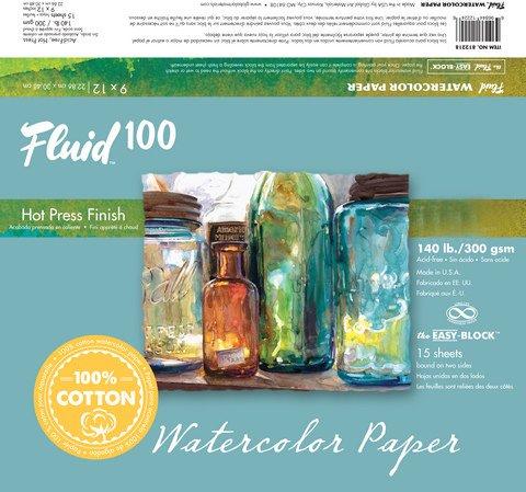 Handbook Paper Fluid 100 Watercolor Hp 140Lb Ez-Block 6X8