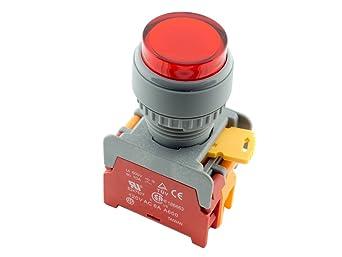 ATI LXL22 Green 22mm Momentary Push Button Switch Illuminated 12V LED NO