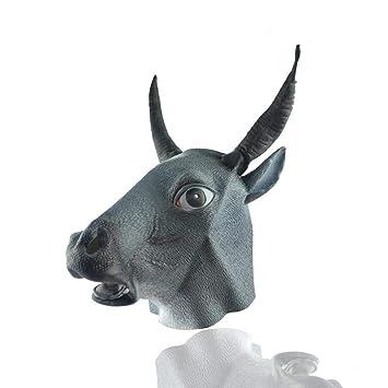 QJXSAN Máscara de látex respetuosa del Medio Ambiente Cubierta de Cabeza de Animal Máscara de Gato
