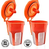 Fill N Save 2 Pack Reusable Carafe K-Cups. Reusable Coffee Filters for the Keurig 2.0, K200, K300, K400 and K500 Series of Machines