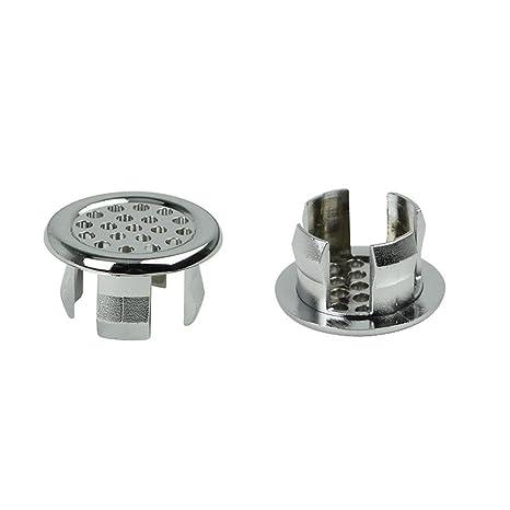 6 verschiedene Design-Modelle /Überlaufblende Doublehero Waschbecken Design /Überlauf Abdeckung Cap chrom E:30*30*16MM