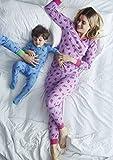 Leveret Kids Dinosaur Blue Baby Boys Footed Pajamas