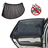 Car Window Shade for Baby Sun UV Protection Universal Fit Adjustable Sun Shade Breathable Mesh Car Curtains Protect Your Baby and Privacy Anti-mosquito Anti-insects