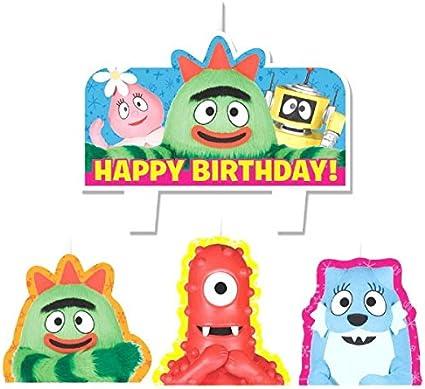 Magnificent Amazon Com Mini Molded Cake Candles Yo Gabba Gabba Collection Funny Birthday Cards Online Inifofree Goldxyz