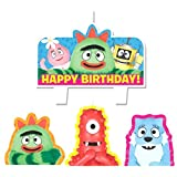"Party Time Yo Gabba Gabba Molded Mini Character Birthday Candle Set, Pack of 4, Multi , 1.25"" Wax"