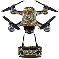 Skin for DJI Spark Mini Drone Combo - Fish Puzzle| MightySkins Protective, Durable, and Unique Vinyl Decal wrap cover | Easy To Apply, Remove, and Change Styles | Made in the USA