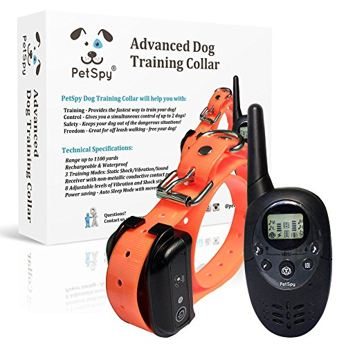 PetSpy Advanced Remote Dog Training Shock Collar for Dogs...