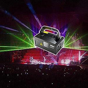 Flashandfocus.com 51nI6TpJlsL._SS300_ Sumger Professional DMX512 LED Indoor Stage Lights RGB Laser Scanner Beam Effect Stage Light Sound Activated Bedroom…
