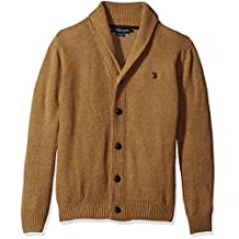 U.S. Polo Assn. Mens Seed Stitch Texture Shawl Cardigan Sweater