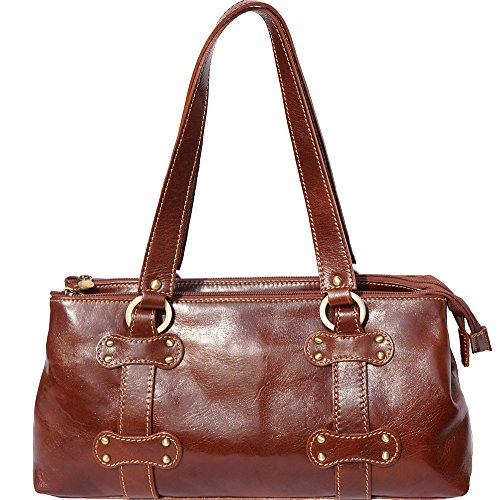 BORSA DONNA IN PELLE(6541) Marrone
