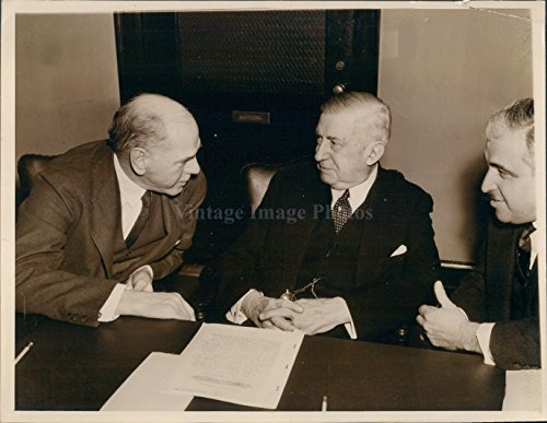 1938 Eugene Grace Charles Schwab Financial Guidance Investment Press Photo