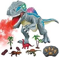 WISHTIME Dinosaur Race Track Toys Set Kids' Play Car Race Tracks Dinosaur World Bridge Create A Road 142 Piece Toy Car &...
