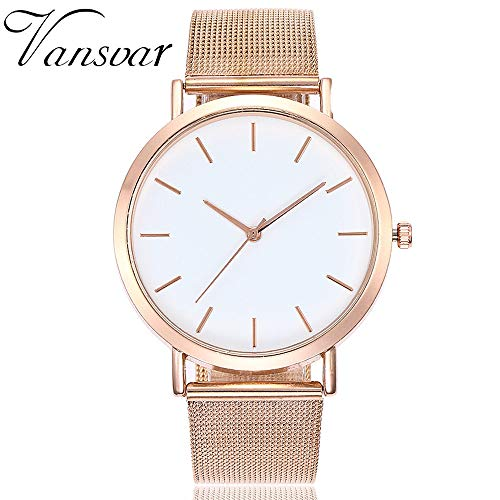 vansvar Casual Quartz Stainless Steel Band Marble Strap Watch Analog Wrist Watch Expedition Classic Digital Chrono Alarm Timer Mid-Size Watch