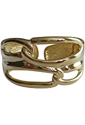 Kenneth Jay Lane Polished Gold Plated Open Link Cuff Bracelet