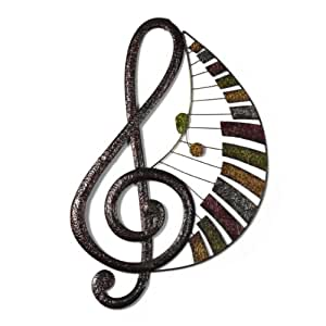 Elements Patchwork Music Note Metal Wall Decor