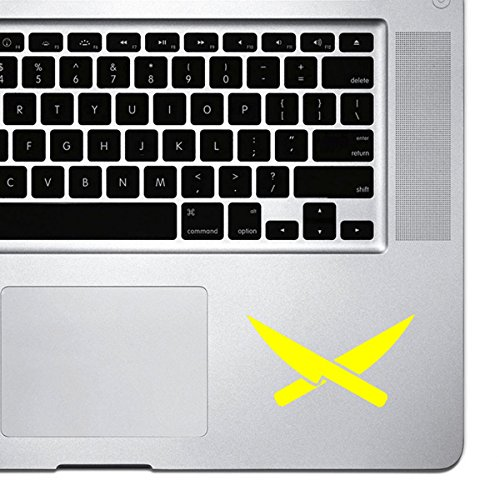 StickAny Palm Series Chef Knives Sticker for Macbook Pro, Chromebook, and Laptops (Yellow)