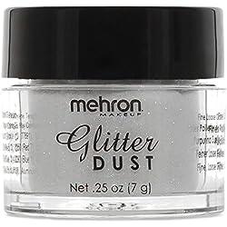 Mehron Makeup Glitter Dust Face & Body Paint (OPALESCENT WHITE)