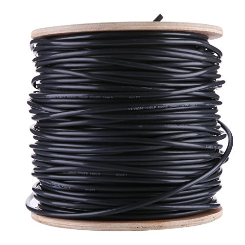 ANNKE 500ft Siamese Coaxial RG59 Cable Wire for CCTV Security System ...