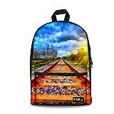 HUGS IDEA Beautiful Railway Track Printing Book Travel Shoulder Bags Review