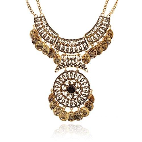 Amber Rhinestone Necklace - 4