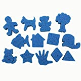 Super Value Favorite Shapes Dip And Print Painting Sponges By Roylco Inc.